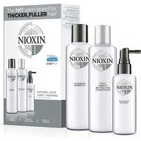 Nioxin SYS 1 Trialkit  -  System 1 amplifies hair texture while protecting against breakage (150+150+50)