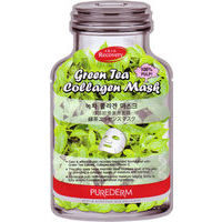 Purederm Green Tea Collagen Mask - Kolagēna maska sejai Zaļā tēja