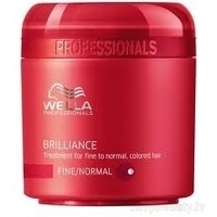 Wella Professionals Brilliance Fine Treatment - Maska krāsotiem smalkiem un normāliem matiem, 150 ml