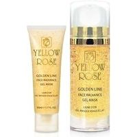 Yellow Rose Golden Line Radiance Gel Mask - Pretgrumbu gēlveida maska sejai ar 23K Zeltu, 100ml