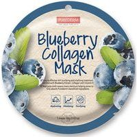 Purederm Blueberry Collagen Mask - Maska sejai ar mellenēm