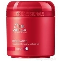 Wella Professionals Brilliance Coarse Treatment - maska krāsotiem, cietiem matiem, 150ml
